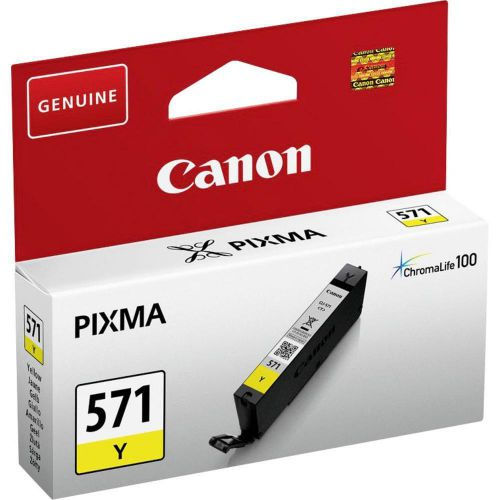 Canon CLI-571 InkJet Cartridge Page Life 161pp 7ml Yellow Ref 0388C001