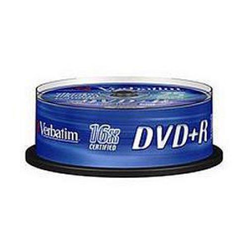 Verbatim DVD+R Spindle Ref 43500-1 [Pack 25]