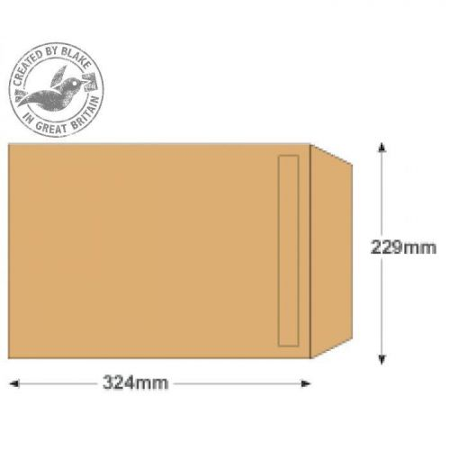 Purely Everyday Manilla Self Seal Pocket C4 324x229mm Ref 1385 [Pack 250] *10 Day Leadtime*