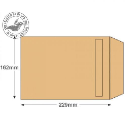 Purely Everyday Manilla Self Seal Pocket C5 229x162mm Ref 13885 [Pack 500] 10 Day Leadtime