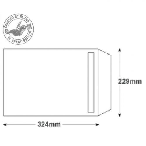 Purely Everyday White Self Seal 90gsm Pocket C4 324x229mm Ref FL2891 [Pack 250] 10 Day Leadtime