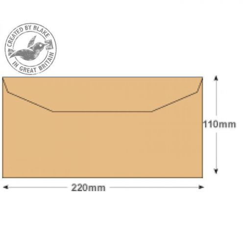 Purely Everyday Mailer Gummed Manilla 80gsm DL 110x220mm Ref 13780 [Pack 1000] 10 Day Leadtime