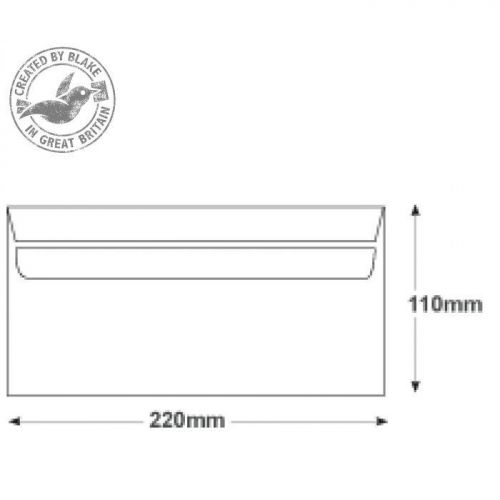 Purely Everyday White Self Seal 80gsm DL 110x220mm Ref FL2882 [Pack 1000] 10 Day Leadtime