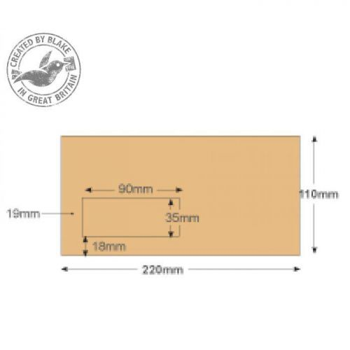 Purely Everyday Mailer Gummed Window Manilla 80gsm DL 110x220 Ref 13810 Pk 1000 10 Day Leadtime