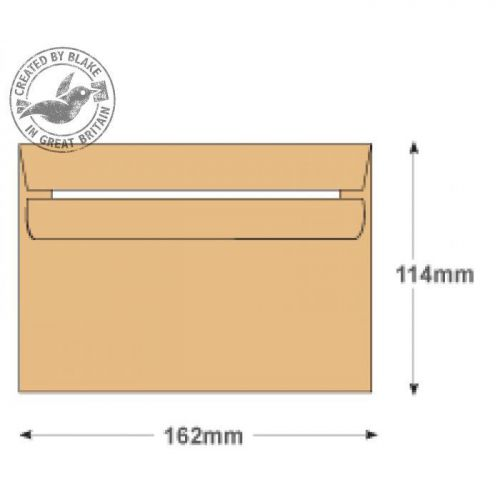 Purely Everyday Manilla Self Seal Wallet C6 114x162mm Ref WHH070 [Pack 1000] 10 Day Leadtime