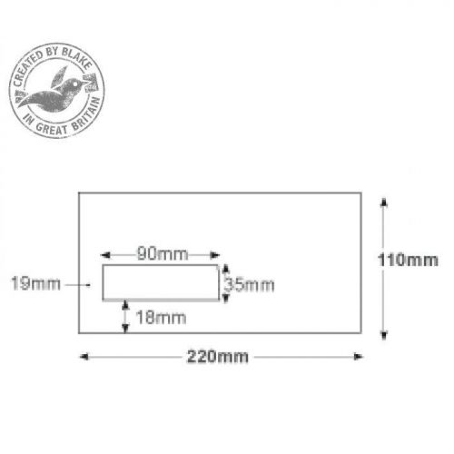 Purely Everyday White Window Self Seal 80gsm DL 110x220mm Ref FL2884 [Pack 1000] 10 Day Leadtime