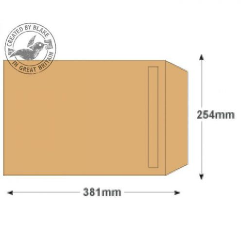 Purely Everyday Manilla Self Seal Pocket 381x254mm Ref 13890 [Pack 250] 10 Day Leadtime
