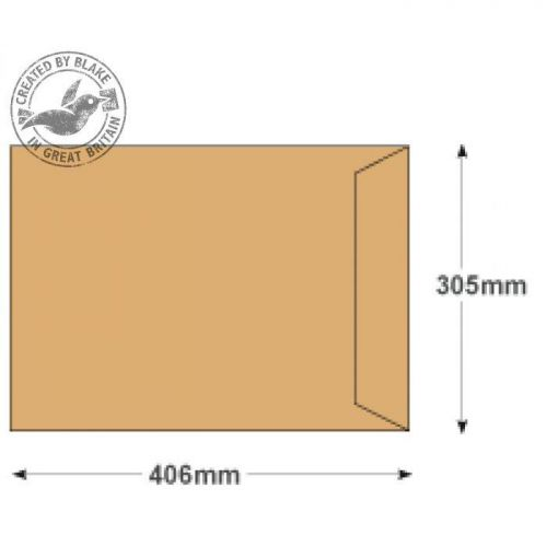 Purely Everyday Manilla Self Seal Pocket 406x305mm Ref 13896 [Pack 250] 10 Day Leadtime