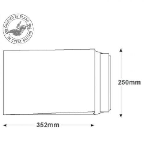 Blake Premium Secure Gusset P&S White B4 352x250x25mm 125gsm Ref TR44070 Pk 100 *10 Day Leadtime*