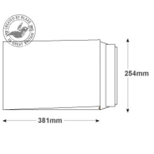 Blake Premium Secure Gusset P&S White 381x254x30mm 125gsm Ref TR13301 [Pack 100] *10 Day Leadtime*