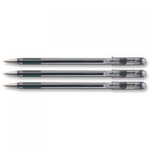 Pentel Superb Ball Pen Fine 0.7mm Tip 0.35mm Line Black Ref BK77-A [Pack 12]