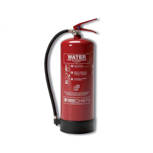 Firechief 9.0LTR Water Fire Extinguisher for Class A Fires Ref WG10150