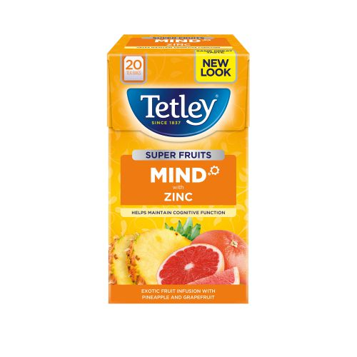 Tetley Super Green Tea BOOST Berry Burst with Vitamin B6 Ref 4621A [Pack 20]