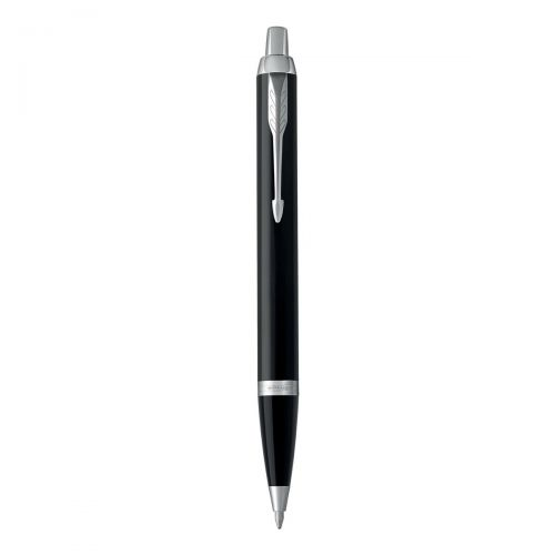 Parker IM Ballpoint Pen Black Lacquered Finish With Chrome Trim Blue Ink Ref 1931665