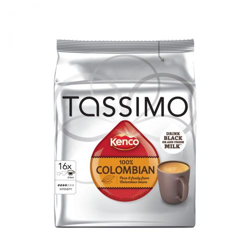 Tassimo 100% Pure Columbian Coffee Pods 16 servings per pack Ref 4031515 [Pack 5 x 16]