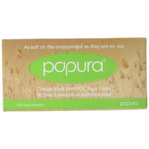 Papura Facial Tissues Box 3 Ply 100 Sheets White Ref 1514