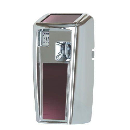 Rubbermaid Microburst 3000 LumeCel Air Freshener Dispenser Light-powered Chrome Ref 1955230