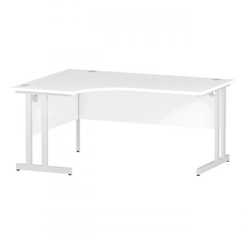 Trexus Radial Desk Left Hand White Cantilever Leg 1600mm White Ref I002392