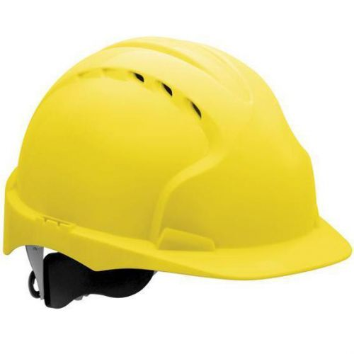 JSP EVO3 Saftey Helmet Wheel Ratchet Vented Yellow Ref AJF170-000-2G1