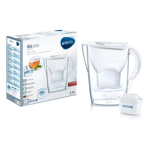 Brita Maxtra Plus Marella Water Filtering Jug Cool White Ref 1029670