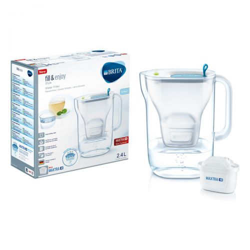 Brita Maxtra Plus Style Water Filtering Jug Cool Blue Ref 139213