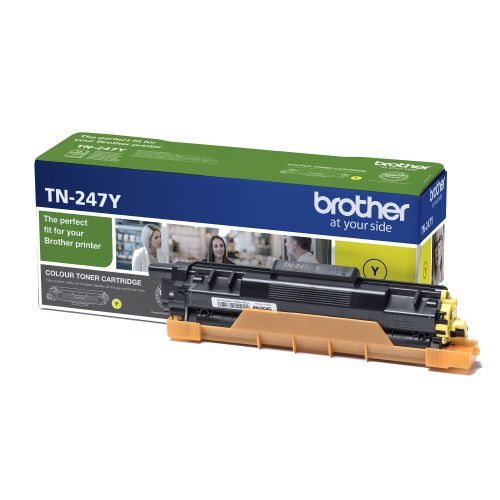 Brother TN247Y Toner Cartridge High Yield 2300pp Yellow Ref TN247Y
