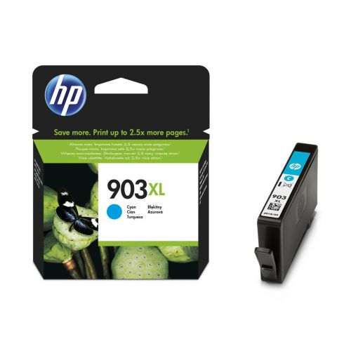 Hewlett Packard [HP] No.903XL Ink Cartridge High Yield Page Life 825pp 9.5ml Cyan Ref T6M03AE