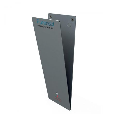 P-Wave P-Plate Door Push Plate Kit Antibacterial 12 Months Protection Life Silver Ref WZPP20S