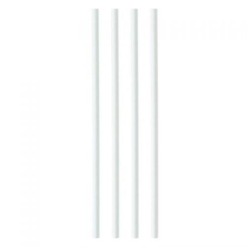 Plastico Paper Straws 8mmx200mm White Ref 398WHPAPER [Pack 250]