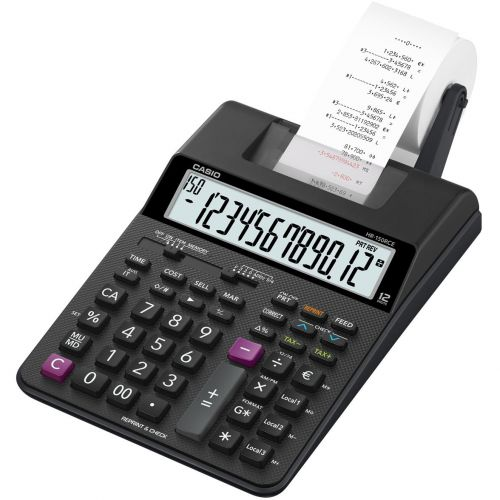 Casio Desktop Printing Calculator 12 Digit Display 2 Colour Printing 165x65x295mm Black Ref HR-150RCE