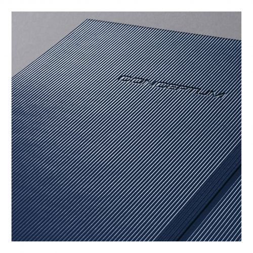 Sigel Conceptum Notebook Hard Cover 80gsm Ruled and Numbered194pp PEFC A4 Midnight Blue Ref CO647