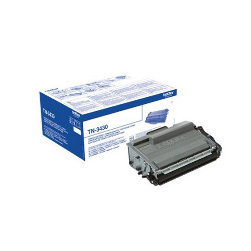 Brother Laser Toner Cartridge Page Life 3000pp Black Ref TN3430