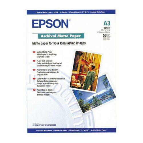 EPSONA3ARCHIVALMATTEPAPER PK50C13S041344
