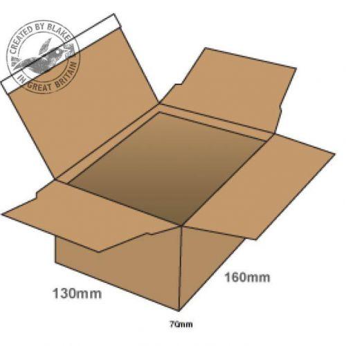 Image for Blake Purely Packaging Postal Box P&S 160x130x70mm Kraft Ref PEB10 [Pk20] 10 Day Leadtime