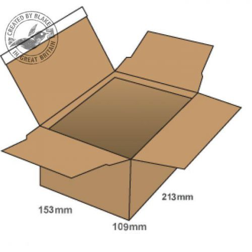 Image for Blake Purely Packaging Postal Box P&S 213x153x109mm Kraft Ref PEB20 [Pk20] 10 Day Leadtime