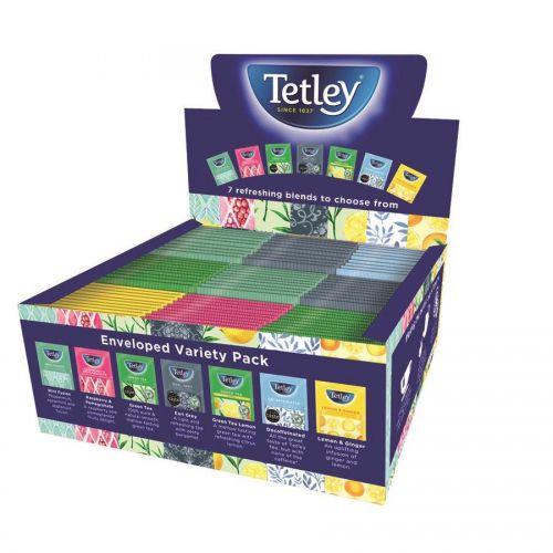 Tetley Indulgence Individually Env Teabags Variety Box String & Tag 7 Mixed Flavours Ref 1504A [90 Bags]