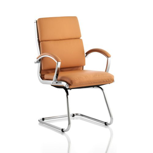 Adroit Classic Cantilever Chair With Arms Tan Ref BR000031