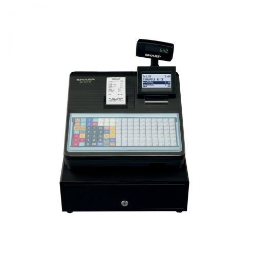 Image for Sharp Cash Register 2000 PLUs 99 Departments with Built-In SD Card Slot Black Ref XEA217B