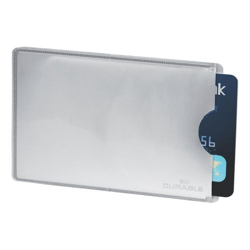 Durable Card Sleeve for Payment & ID Cards RFID Secure 13.56 MHz Ref 890023 [Pack 10]