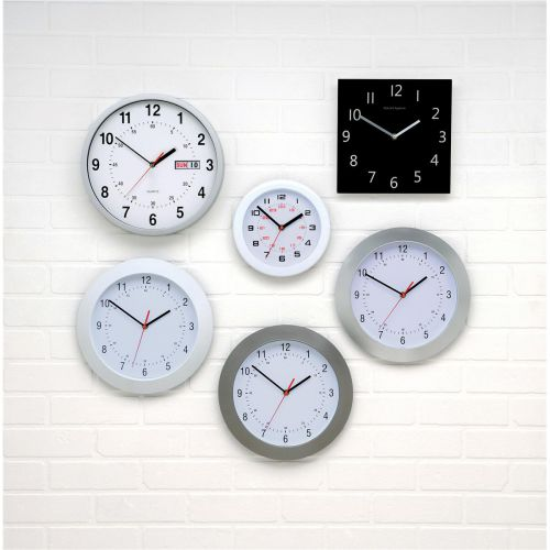Image for 5 Star Facilities Wall Clock with Coloured Case Diameter 300mm Dark Grey