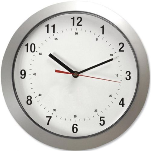 5 Star Facilities Wall Clock with Coloured Case Diameter 300mm Silver