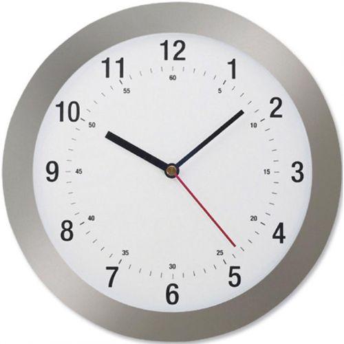 5 Star Facilities Wall Clock Radio Controlled Diameter 300mm Grey