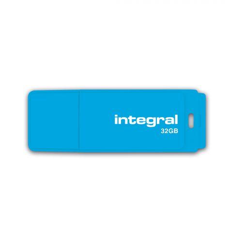 Integral Neon USB Drive 2.0 32GB Blue Ref INFD32GBNEONB