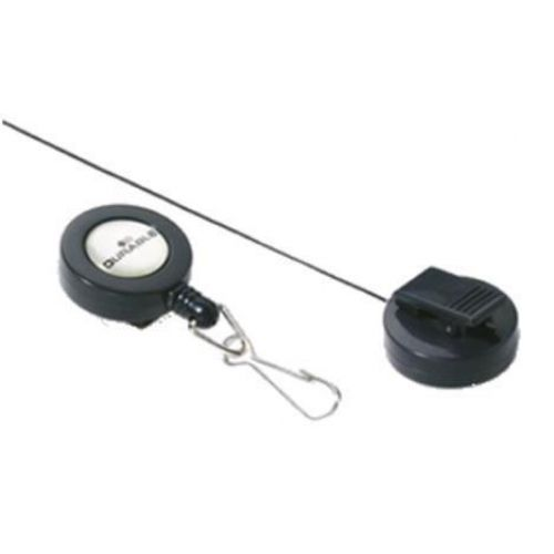 Durable Badge Reel with Spring Snap Fastener 800mm Ref Charcoal 8221-58 [Pack 10]