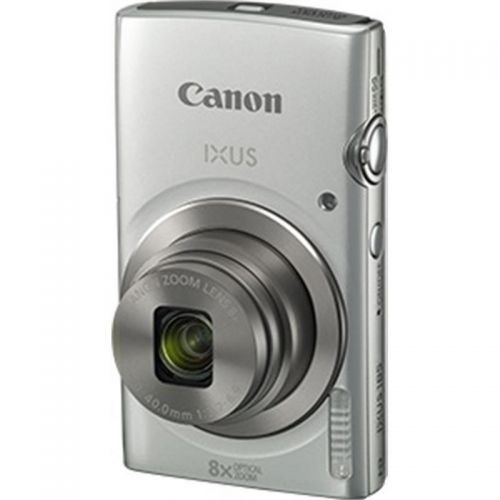 Canon IXUS 185 Camera Kit 20MP 16x ZoomPlus Full HD Movies Case & 8GB SD card Silver Ref CAN2769