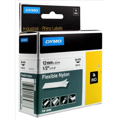 Dymo RhinoPRO Industrial Tape Flexible Nylon 12mm White Ref 18758 S0718100