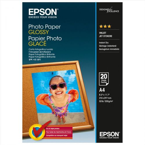 Epson A4 Glossy Photo Paper 200gsm Pk20