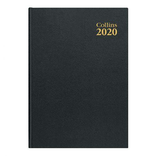 Collins 2020 Royal Desk Diary Week to View Sewn Binding A5 210x148mm Black Ref 35 Blk 2020