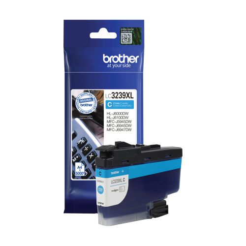 Brother LC3239XLC Ink Cartridge High Yield Page Life 5000pp Cyan Ref LC3239XLC