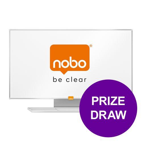 Nobo Whiteboard Widescreen 55in Nano Clean Magnetic W1229xH698 Ref 1905298 [COMPETITION] Apr-Jun 19